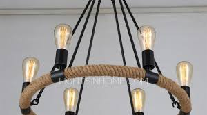 wrought iron lighting popular traditional 6 light rope shaped antique chandelier throughout 4