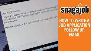 job interview tips part 12 how to write a job application job interview tips part 12 how to write a job application follow up email
