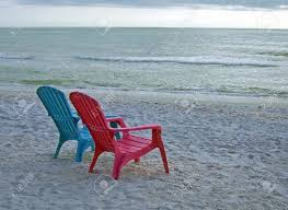 adirondack chairs on beach. Colorful Blue And Red Adirondack Chairs On Beach Stock Photo - 2246523 Adirondack