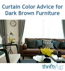 curtain color advice for dark brown