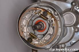 kymco agility 50 scooter online service manual cyclepedia kymco agility 50 rear drum brake shoes replacement play adjustment