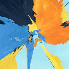 Splash Blue Yellow Black Ipad Wallpaper ...