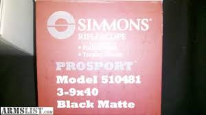 simmons 3x9 scope. i have a like new simmons 3x9 scope that bought before deer hunting last year and only used it for week. the is just too large my .30-30 3x9