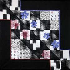 Quilt Inspiration: Japanese quilts & Haiku is a traditional form of Japanese poetry, and the name of this quilt,  which demonstrates that