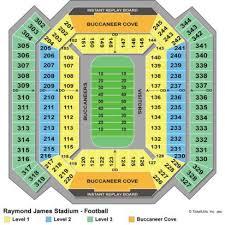 Raymond James Stadium Seat Chart Raymond James Stadium