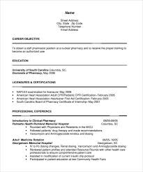 Modern Hospital Pharmacist Resume Sample Pharmacist Resume 9 Download Documents In Pdf