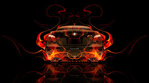 bmw back fire tuning abstract car