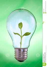 Green Energy Lighting Green Energy Light Bulb With Plant Inside Stock Image