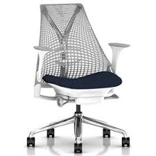 herman miller office chairs. PRE ORDER Herman Miller Sayl, Vico Navy Blue, Polished Base, Height Adjustable Arms Office Chairs