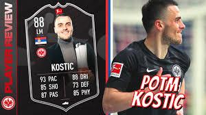 FREAK OR FRAUD? 🤔 88 Bundesliga POTM Kostic FIFA 21 Player Review - YouTube