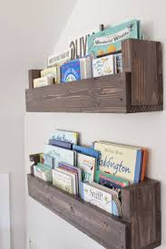 see how caitlin from the picket fence projects whipped up these rustic bookshelves house rustic bookshelf fences and nursery