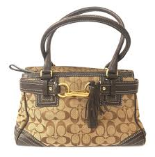 Coach Monogram Canvas with Leather Trim Tote Bag   Pre Loved