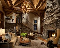 great room design ideas living room rustic with stone fireplace surround decorative