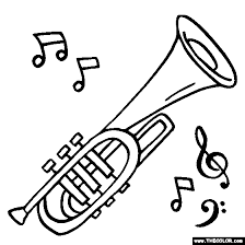 Small Picture Musical Instruments Coloring Pages Page 1