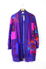 Maggie Shepherd Australian Designer Silk Collage Jacket Os Omnia