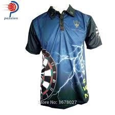 Dart Shirt Designs Classic Popular Black Blue Passion Design Dart Shirts With Custom Team Names