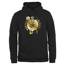 - Pullover Celtics Collection Black Boston Hoodie Men's Gold