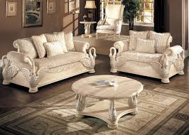 formal living room chairs. avignon antique white swan motif luxury living room furniture set formal chairs o