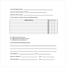 Form To Write Up An Employee Free Employee Write Up Form Printable