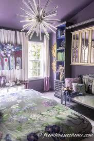 master bedroom interior design purple. Purple Bedroom Ideas: Master Sputnik Light Fixture Against Purple  Walls Master Interior Design
