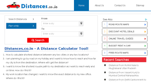 Driving Distance Chart Access Distances Co In Distance Between By Road Distances