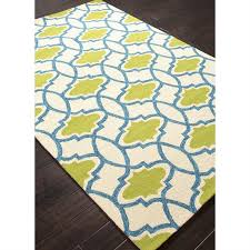 picture of jaipur barcelona moroccan pattern polypropylene blue green indoor outdoor rug ba39