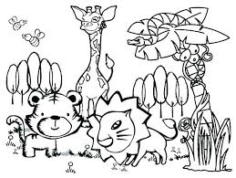 Preschool Coloring Pages Animals Iifmalumniorg