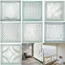 details about 6pcs glass blocks glass bricks clear transpa wall floor tile diy decoration