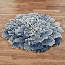 flower shaped floor rug full size