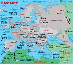 europe map countries. Plain Europe Map Of Europe And Countries World Atlas