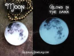 moon glow glow jewelry glowing necklace