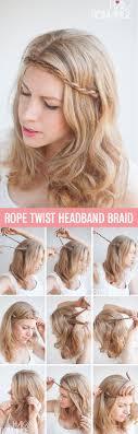 Headband Hair Style twist & pin rope braided headband hairstyle tutorial hair romance 5715 by wearticles.com
