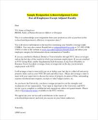 Letter Of Acceptance Sample School 6 Resignation Acceptance Letter Pdf Word