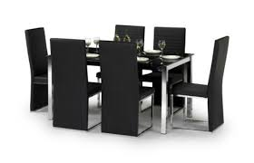 black dining room furniture sets. Black Dining Table And 6 Chairs Room Furniture Sets