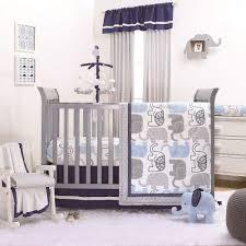 the peanut shell 3 piece baby boy crib bedding set little peanut navy blue and grey elephants 100 cotton fabrics com