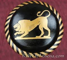 Greek Hoplite Shield Designs Ds02d Greek Painted Hoplite Shield Lion 0 00