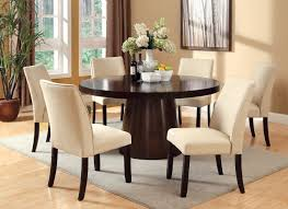 60 rio espresso round dining table set large round espresso dining room table and chairs