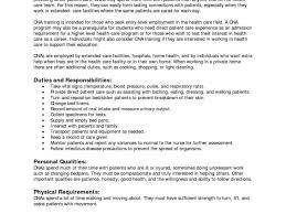Resume Excellent Idea Cna Sample Resume 15 Sample Certified