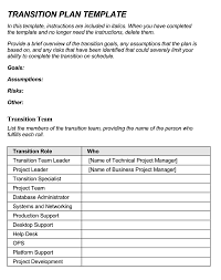 Transition Plan Template Word 40 Free Transition Plan Templates For Business Job And