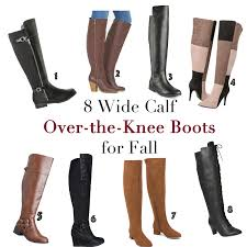 8 wide calf over the knee boot for fall