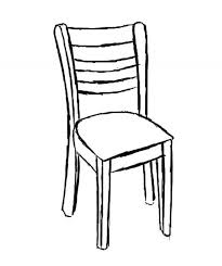simple chair drawing. Delighful Drawing Every Chair Has Four Legs The Back Two Legs Connect To The Backrest And  Front Seat Study Image Get A Good Idea Of What  To Simple Chair Drawing