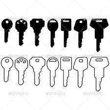 house key outline. Black House Key Icon Set - Man-made Objects Outline
