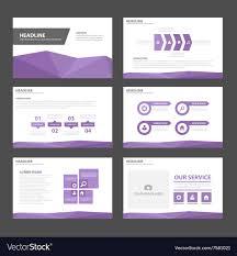 Presentation Design Templates Purple Polygon Presentation Templates Flat Design