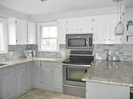 awesome gray subway tile kitchen intended for white cabinets with backsplash