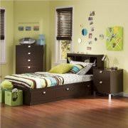 boys bedroom set. kids twin 3 piece bedroom set with bookcase headboard in chocolate boys