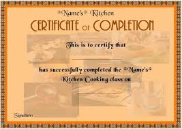 Cooking Certificate Template Simple Cooking Classes Completion Certificate For Beginners Cook
