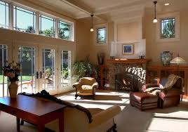 Featured Image of Craftsman Living Room With Rustic Flair French Doors And  Large Windows