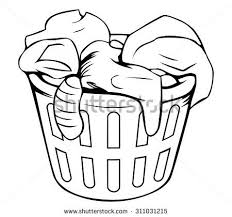 laundry clipart black and white. Fine White Clothes In Laundry Basket Clip Art U2013 Clipart Free Download And Black White S