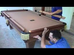 recovering a pool table you