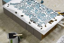 stencils for furniture and walls